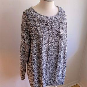 Pennington's Grey Knit Sweater 2X